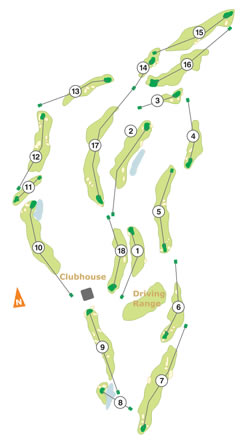 Praia Del Rey Golf Course map