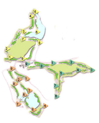 Almenara Club Golf Course map