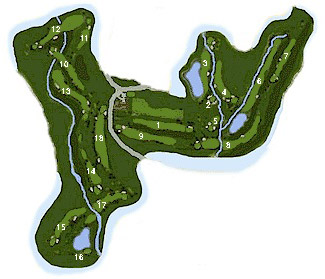 Los Arqueros Golf Course map