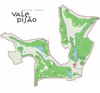 Vale Pisão Golf Course map