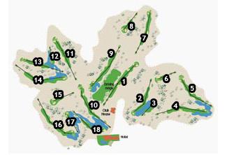 Alicante Golf Course map