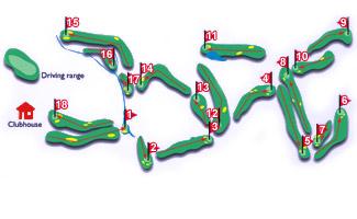 Nuevo Portil Golf Course map