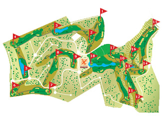 Valle del Este Golf Course map