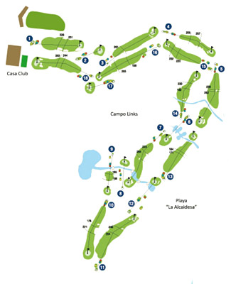 Alcaidesa Links Golf Course map