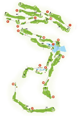 Alcaidesa Heathland Golf Course map