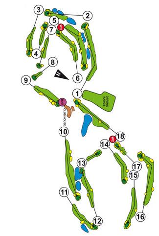 Aloha Club Golf Course map