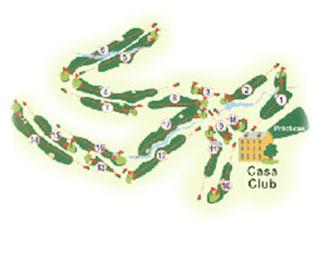 Bellavista Club Golf Course map