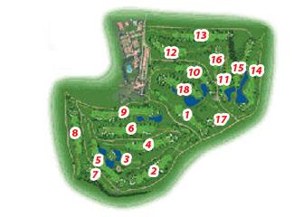 Real Club de Sevilla Golf Course map