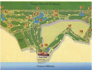Dunas de Doñana Golf Course map