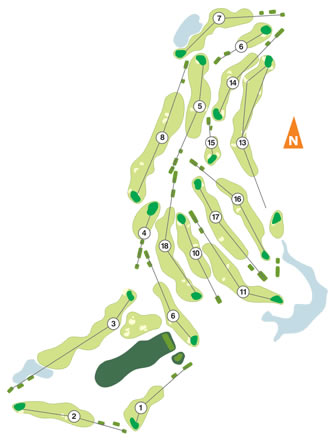 Santo Estevão Golf Course map
