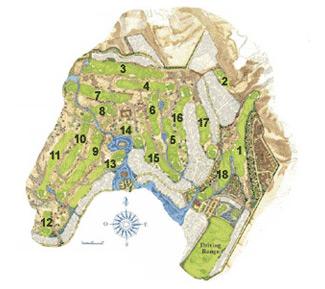 Desert Springs Resort & GC Golf Course map