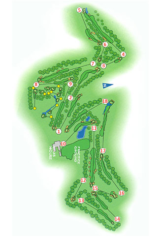 Valderrama Club Golf Course map