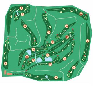 SanctiPetri Campano Golf Course map