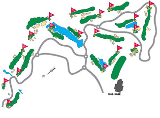Montecastillo Golf Course map