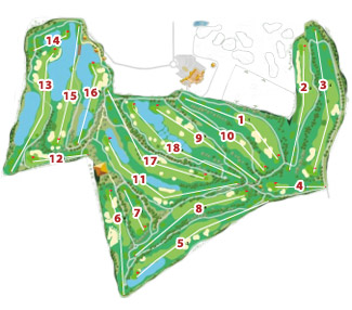 Sherry Jerez Golf Course map
