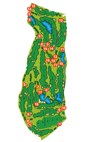 Villa Nueva Golf Course map