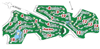 Almerimar Golf Course map