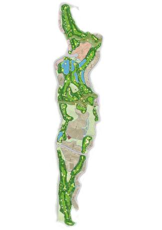 Aguilon course Golf Course map