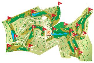 Macenas course Golf Course map