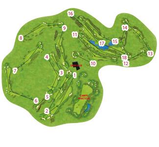 Alhaurin resort Golf Course map