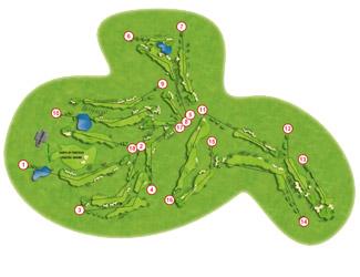 Calanova course Golf Course map