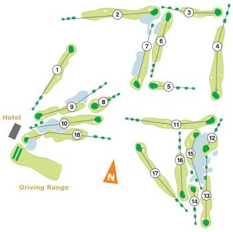 Aroeira II Golf Course map