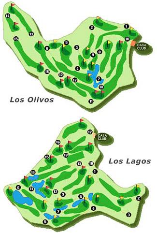 Mijas golf - Los Lagos Golf Course map
