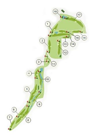 Doña Julia course Golf Course map