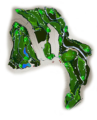 Finca Cortesin Golf Course map