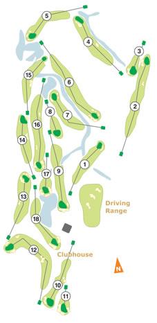 do Montado Golf Course map