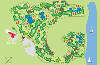 Las Salinas de Antigua Golf Course map