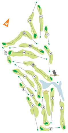 Troia Golf Course map