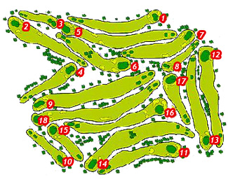 Real Club de las Palmas Golf Course map