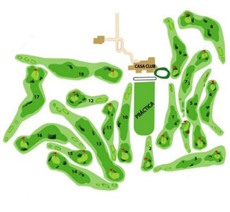 Costa Teguise Golf Course map