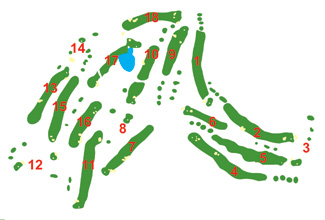 Lanzarote Golf Course map
