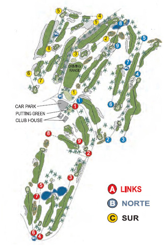 del Sur Golf Course map