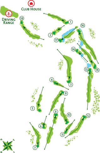 Boavista Golf Course map