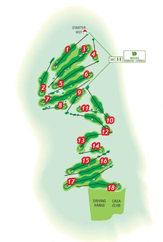 Tecina Golf Course map
