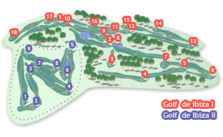 de Ibiza II Roca Llisa Golf Course map