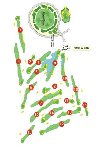 Son Antem West Golf Course map