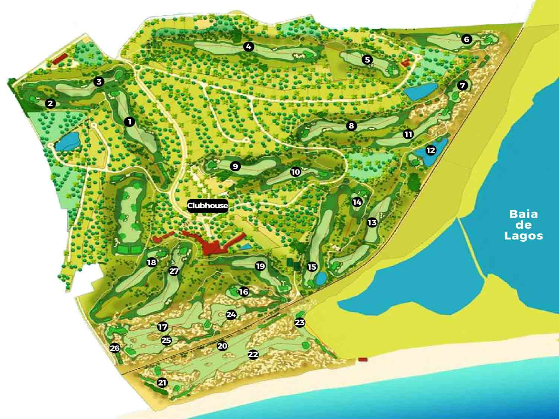Palmares Golf Course map