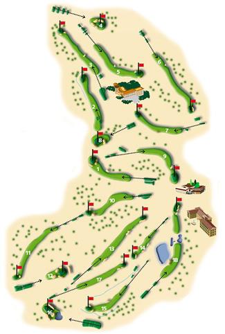 Son Vida Golf Course map