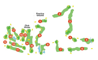 Vall D'Or Golf Course map