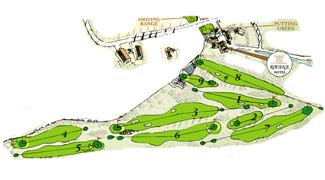La Reserva Rotana Golf Course map
