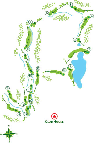 Alamos Golf Course map