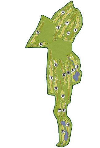El Valle Golf Course map