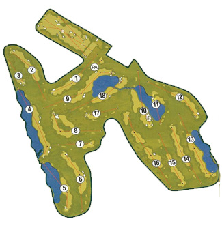 Alhama Golf Course map