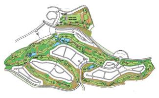 Hacienda del Alamo Resort Golf Course map