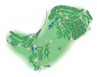 La Manga Club Resort West Golf Course map