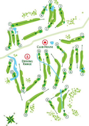 Penina Championship Golf Course map